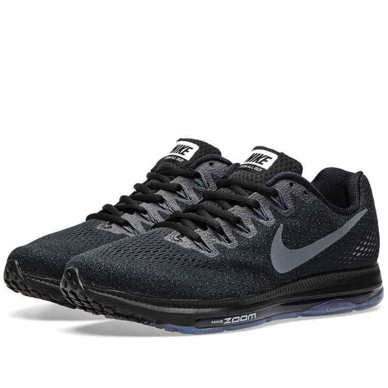 Herren Nike Schwarz Grau Zoom Alle Draußen Niedrig Laufschuhe 878670 001 Neu Überlegene Qualität
