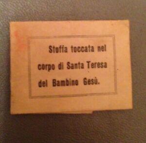 RELIQUIA-STOFFA-TOCCATA-NEL-CORPO-DI-SANTA-TERESA-DEL-BAMBIN-GESU-039-SIGILLATA