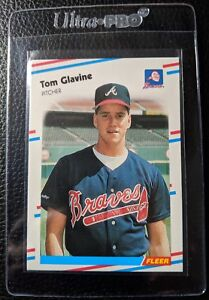 1988-FLEER-539-TOM-GLAVINE-ROOKIE-CARD-RC-HOF-ATLANTA-BRAVES-MINT