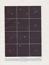 Doppelstern Doppelsterne Doppelsternsystem FARBDRUCK von 1912 binary star astron