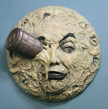 """A Trip To The Moon 13"""" Sculpture - Georges Melies, Silent Film Pulp Novelties"""