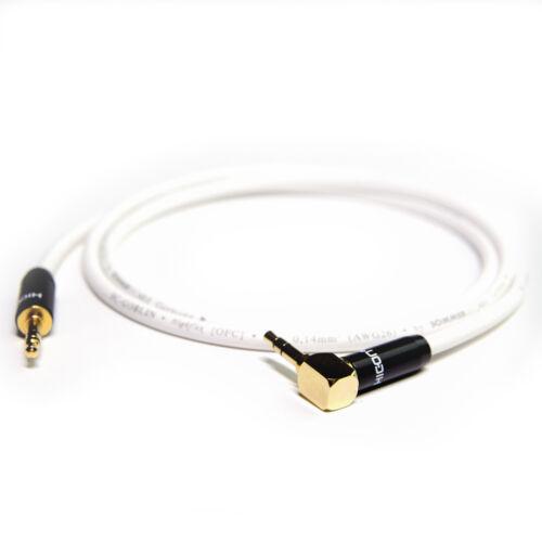 3m 3,5mm Miniklinke Patch AUX Mikrofon Kopfhörer-Kabel gewinkelt GOBLIN30cm