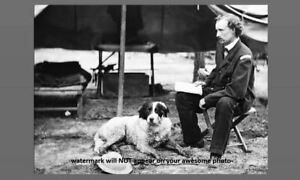 Cool-1862-General-George-Custer-w-Dog-PHOTO-Civil-War-Camp-Virginia-Campaign