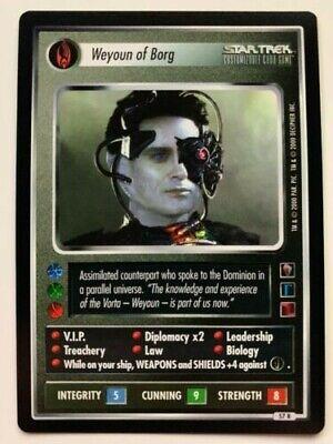 Deanna Troi Federation Personnel Rare NM The Borg Star Trek CCG 1E