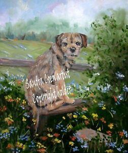 BORDER-TERRIER-DOG-COLOURFUL-ORIGINAL-OIL-PAINTING-SANDRA-COEN-ARTIST-CANVAS