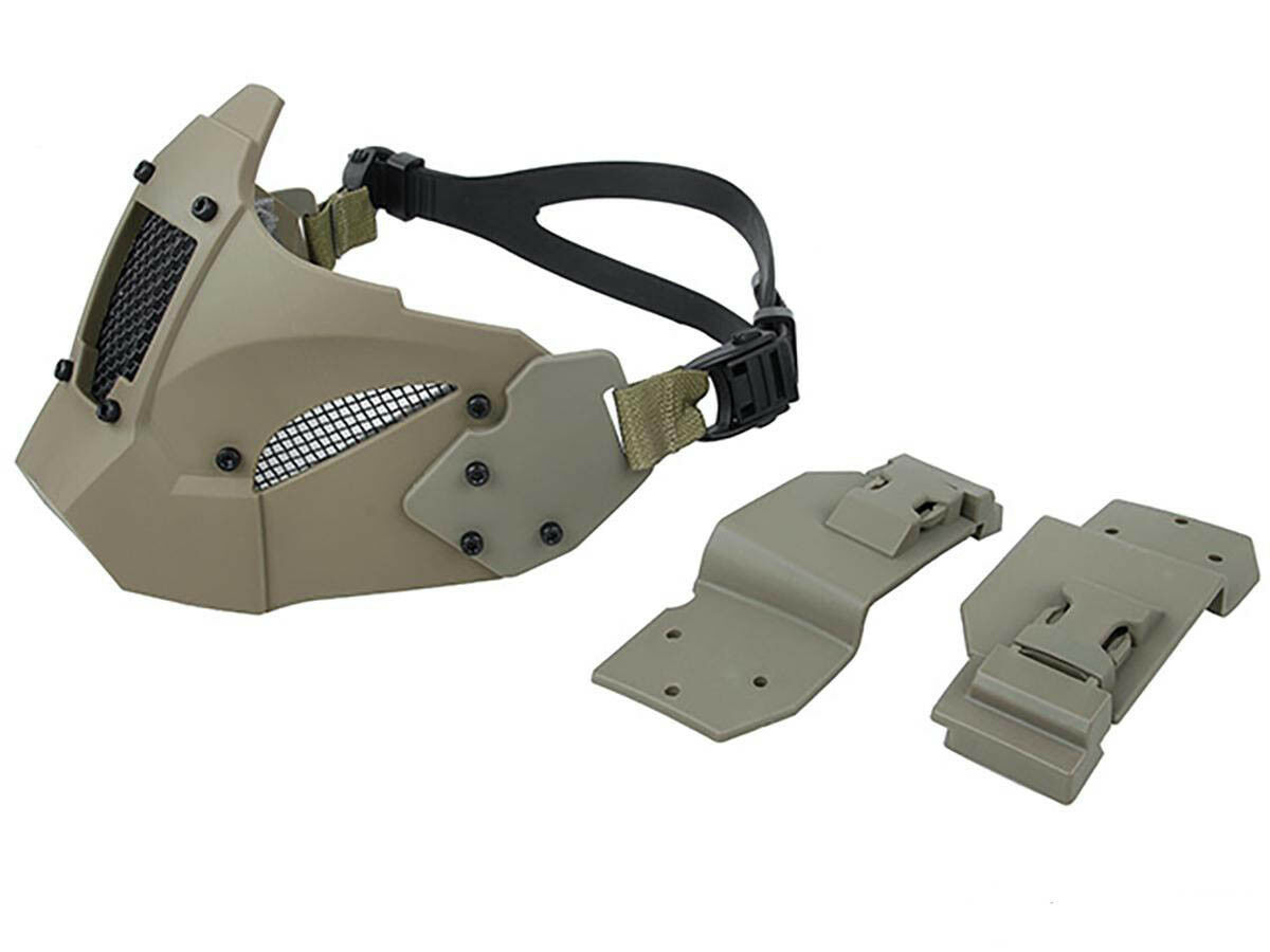 DLP Tactical Polymer & Steel Face Mask for ACH   MICH   FAST Bump Helmet