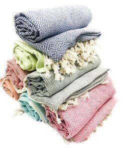 USA SELLER Turkish Towel,Throw Blanket,Housewarming Gifts,100/% Cotton,Bulk Towel
