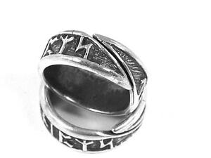 Viking 925 Sterling silver Rune ring with Rune symbols Celtic Norse
