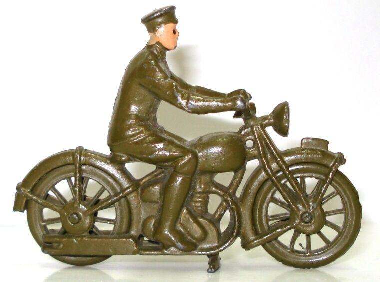 BRITAINS NO. 1791 ARMY DESPATCH MOTOR BIKE - EXC. & RARE
