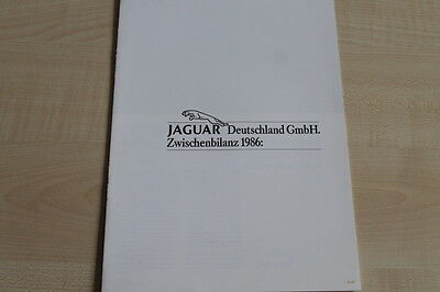 161434) Jaguar - Zwischenbilanz - Prospekt 1986 Matching In Kleur