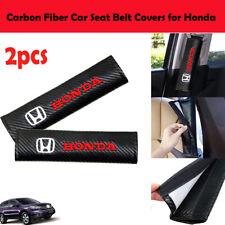 2pcs Carbon Fiber Car Seat Belt Cover Shoulder Pad For Honda 3d Embroidery Fits 1991 Honda Civic