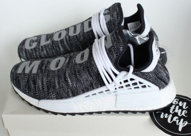big sale 200a8 644a2 Adidas Pharrell Human Race HU NMD Trail Oreo Black White Grey UK 5 6 7 8 9  10 11