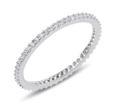 Solid 925 Sterling Silver Large Ladies Fashion Eternity Circle Pendant Slide 22mm x 22mm