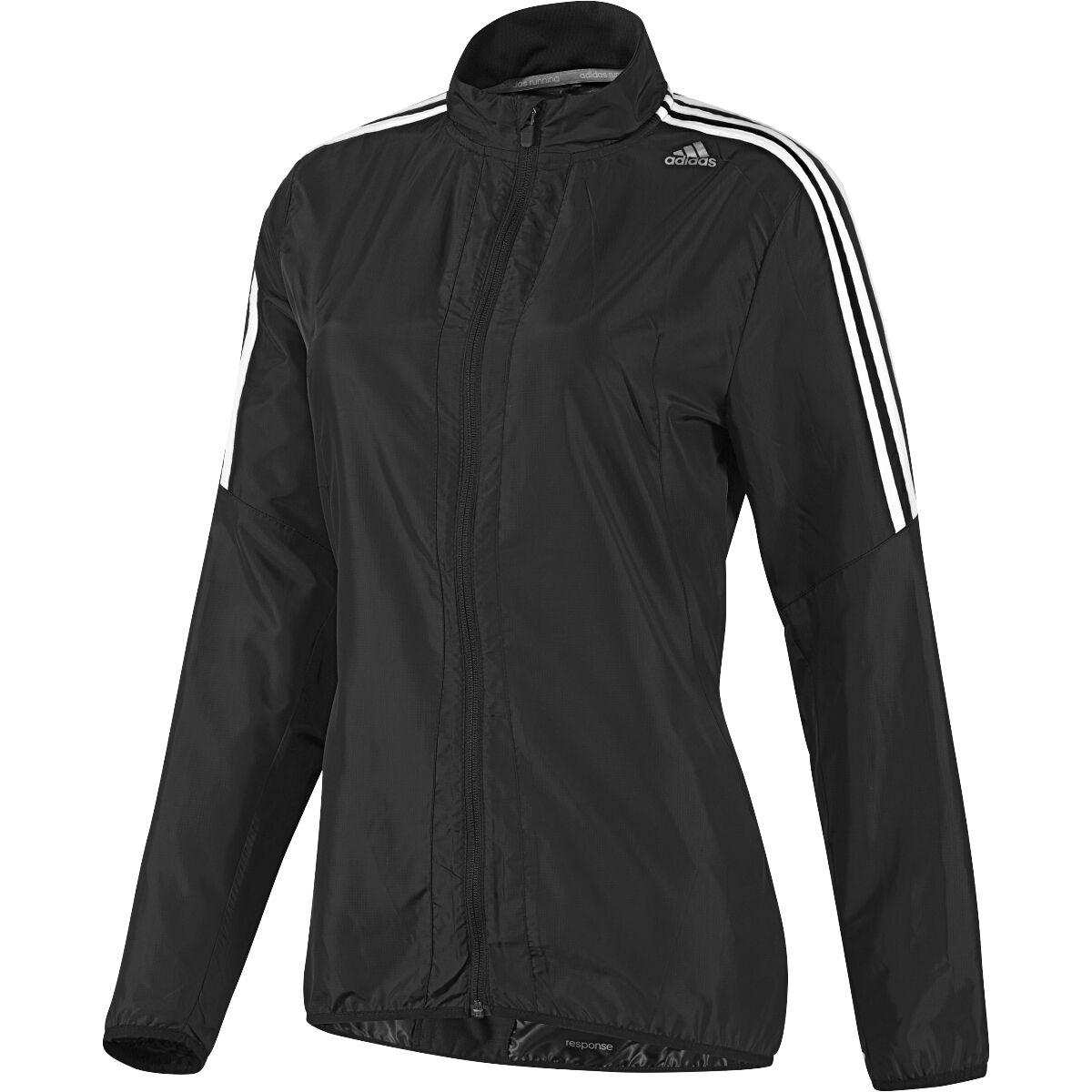 Haut de survêtement Adidas Response Running Wind Jacket pour femme - Noir