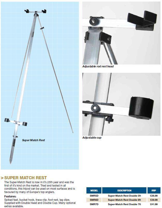 IAN goldS SUPER-MATCH REST DOUBLE 7FT Model No SMR7D