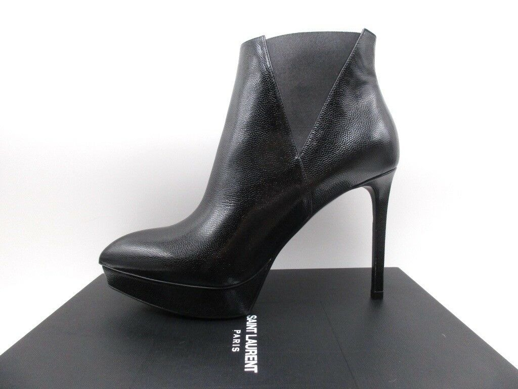 YSL Yves Saint Laurent Janis 80 Chelsea Ankle Boots Booties 38.5 8.5