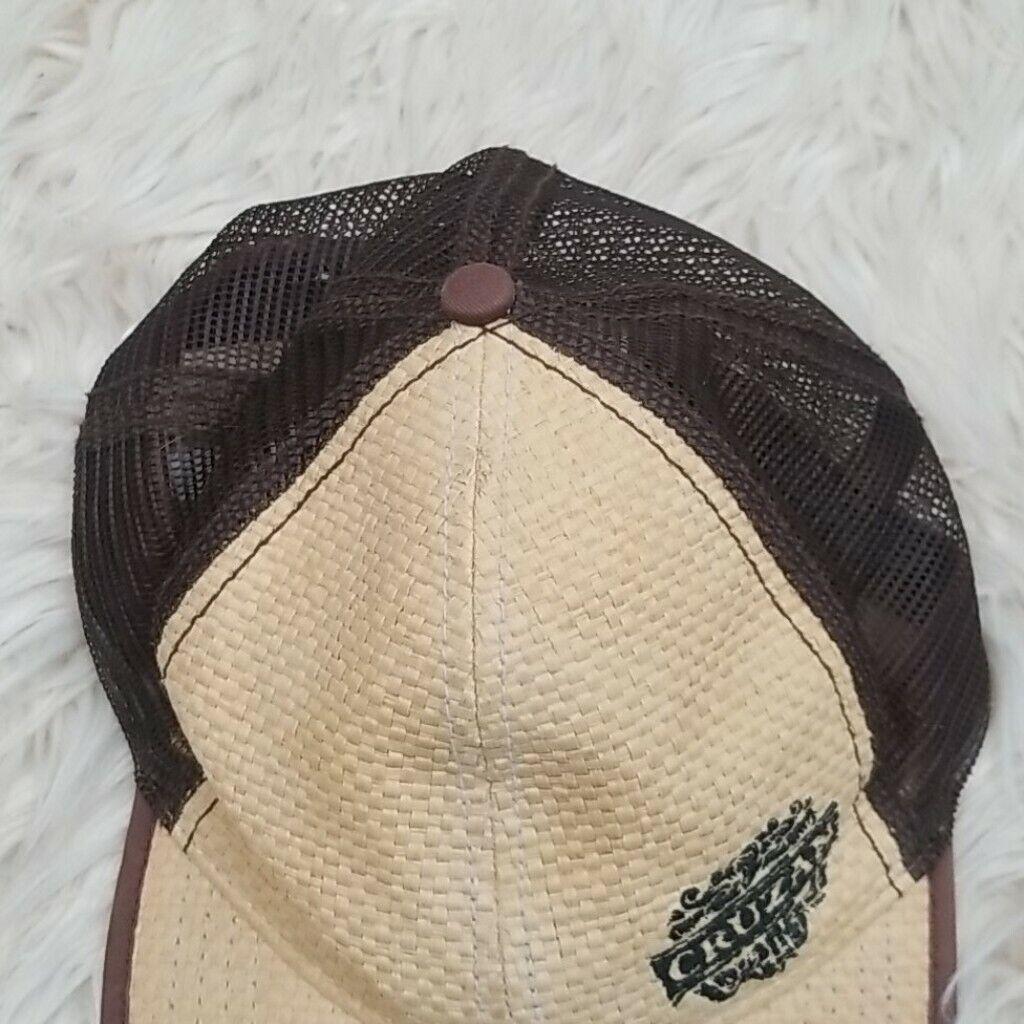 Cruzan Rum Bamboo Wicker Mesh Straw Style Hat Cap - image 3
