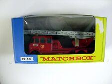 MATCHBOX K15 MERRYWEATHER FIRE ENGINE (DAMAGED BOX) b