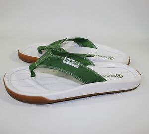 8be35a232fa Men s CONVERSE All Star THONG Green White SANDALS Flip Flops SLIDERS ...