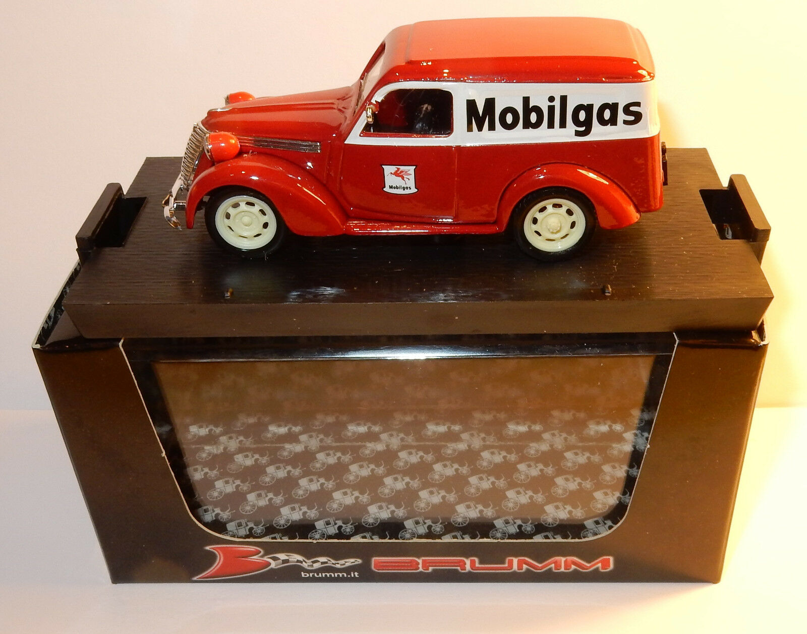 BRUMM FIAT 1100E FURGONE 1956 COMMERCIAL MOBILGAS 1 43 R344 IN BOX