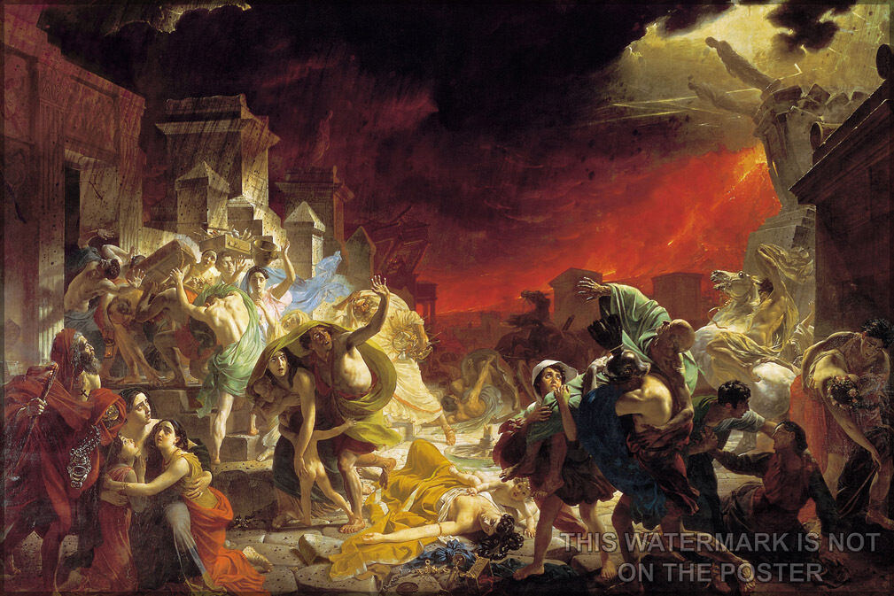 Poster, Molte Misure; Last Day Of Pompeii da Karl Briullov
