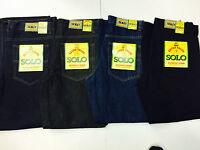 Solo Pants Jeans Denim All Sizes 4 Color Baggy Loose100% Cotton