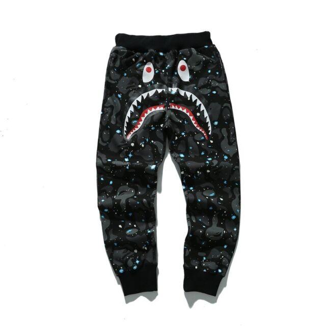 Men/'s Hoodie Sweats Coat Ape Bape Shark Jaw Full Zipper Trouser Pant Jacket Set
