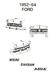 image is loading ford-1952-1953-amp-1954-car-wiring-diagram-