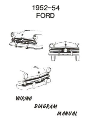 FORD 1952, 1953 & 1954 Car Wiring Diagram Manual | eBayeBay