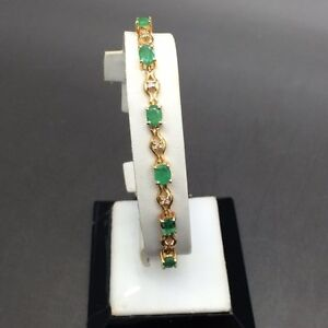 Beautiful-Ladies-Emerald-Bracelet-May-039-s-Birthstone-Great-Birthday-Present