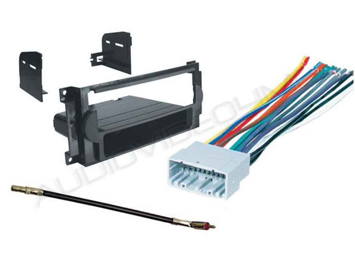 jeep compass car radio mounting dash kit+wire harness  ebay