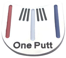 One Putt Golf Ball Marker - Package of 2 - Unique Alignment Tool -Red White Blue