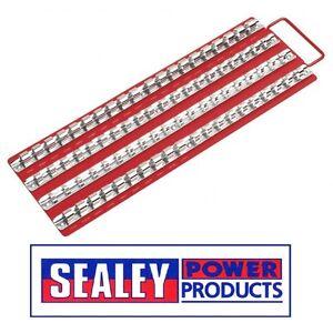 Sealey-Socket-Rail-Tray-Red-1-4-034-3-8-034-amp-1-2-034-Sq-Drive-AK271