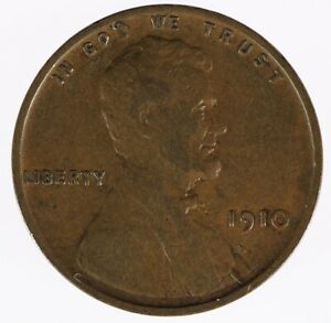 1910-P-Lincoln-Wheat-Back-Penny-Cent-FREE-SHIPPING-B8