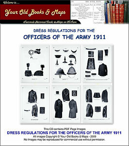 Details about DRESS REGULATIONS FOR THE OFFICERS OF THE BRITISH ARMY 1911  CDROM