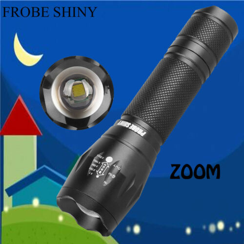 Police 5000 LM Zoomable XM-L T6 LED 5 Modes Flashlight Aluminum Torch  Light US