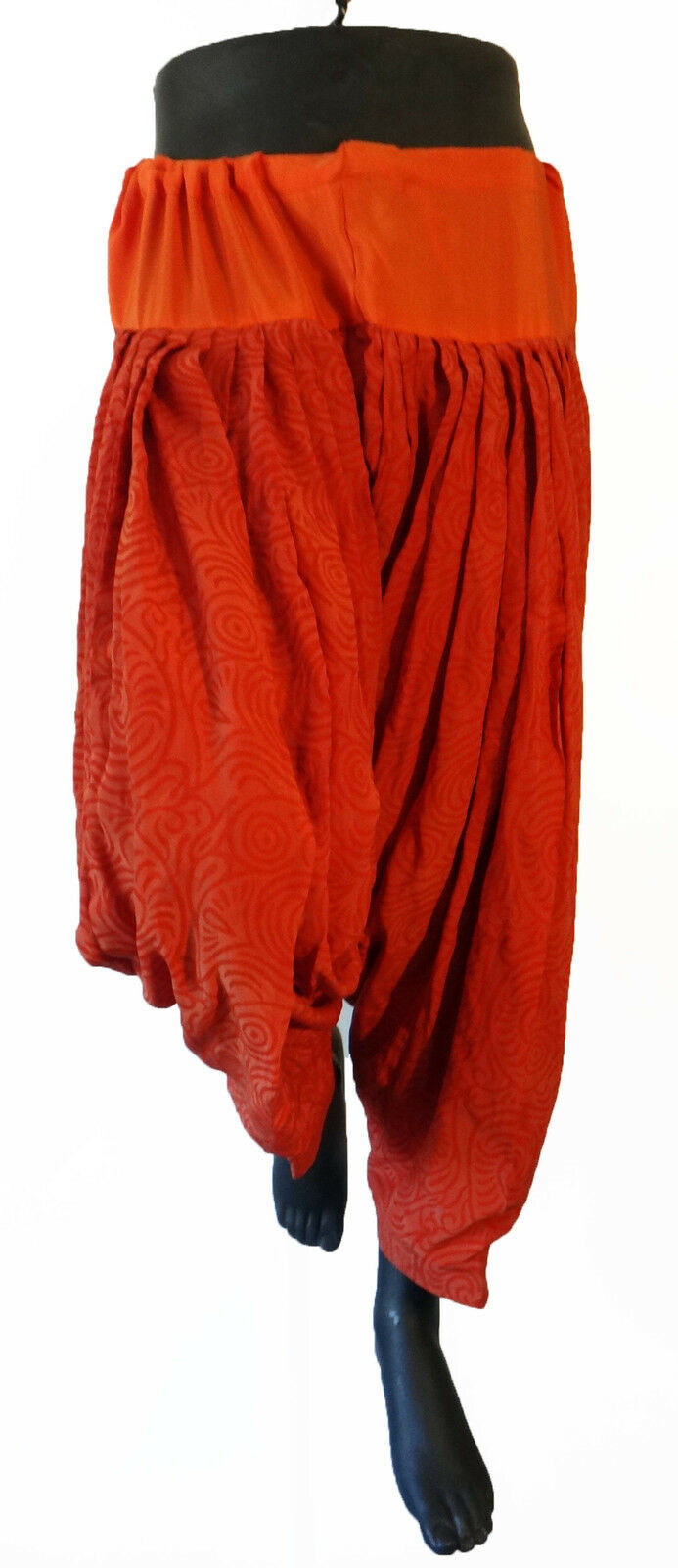 India Harem traditional genie aladin parkour yoga baggy pant orange Salwar