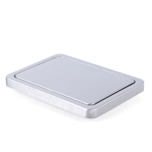 Round//Square Built-in Countertop Trash Bin Cover Brushed Steel Swing Flap Lid