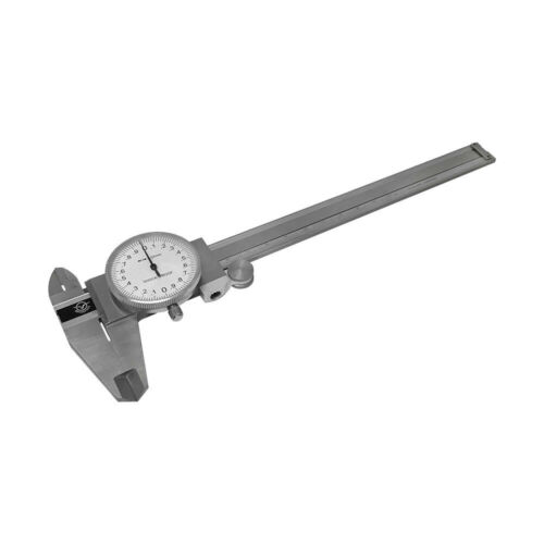 Stainless Steel Metric Dial Caliper 150mm//0.02mm Precision Graduation Shockproof