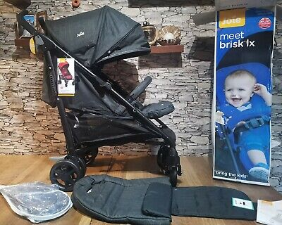 Joie Brisk LX Stroller - Pavement Grey Including Footmuff ...