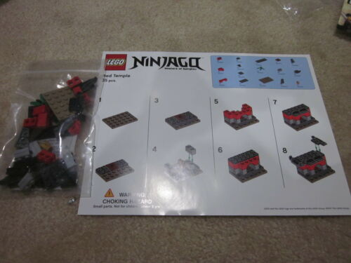 Lego Ninjago Movie Red Mini Temple Toys R Us Exclusive Building Event HTF