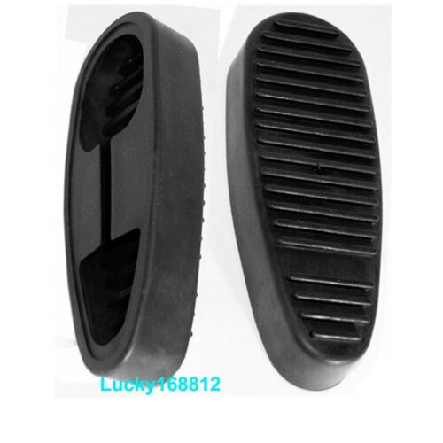 Black 2x Tactical Rubber Recoil Pad Snap-on Non-Slip Pad for 6 Position Stocks