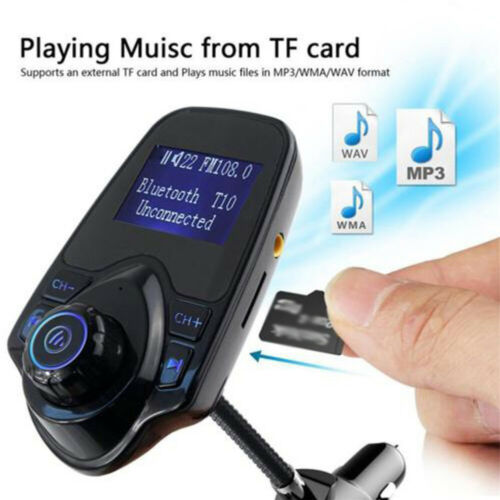 Handsfree Wireless-Bluetooth Car Kit FM Transmitter Radio MP3 Player USB Charger