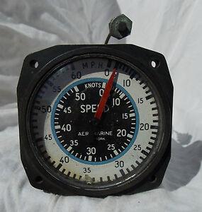 Details about Vintage US Aeromarine 60 MPH 50 Knot Speed Gauge Instrument