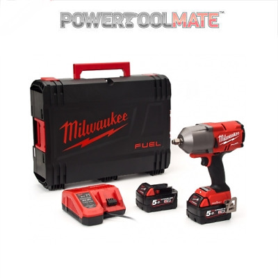 Milwaukee M18ONEFHIWF12-502X 18v 2x5.0Ah Li-ion Fuel 1/2in Friction Ring Impact