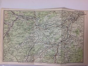 Adaptable Melrose Selkirk 1887 Antique Map Map Jedburgh & Kelso Original
