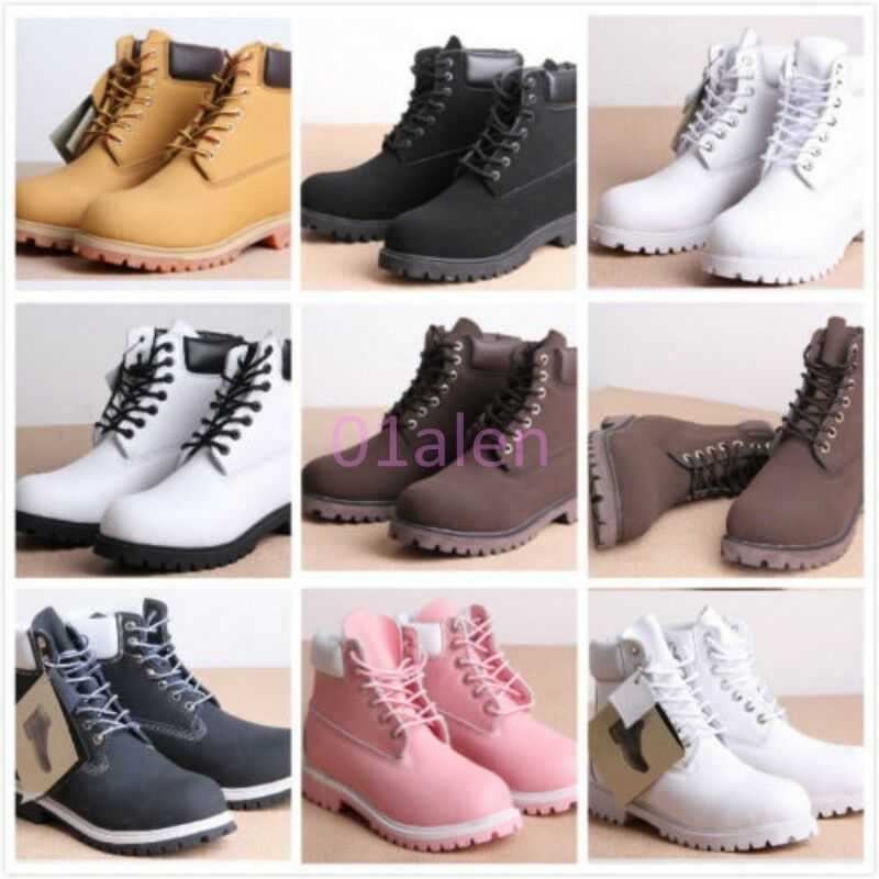 Z Womens Mens Military Low Block Heel Creeper Lace Up Punk Ankle Riding Boots 47