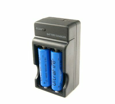 USA Rechargeable 3.6V 14500 1200mah Li-Ion Battery +Charger Combo for Flashlight