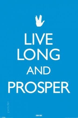 Poster Star Trek Spock Live Long and Prosper Lebe lang u.i Frieden 61 x 91,5 cm