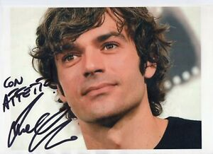 Luca-Argentero-Foto-su-carta-Autografata-Autografo-Signed-Photo-ITP-Actor-Cinema